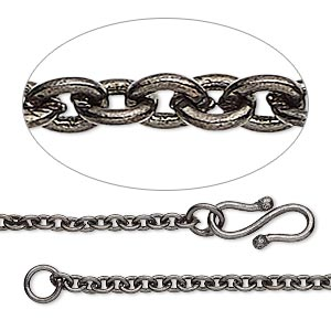 Chain Necklaces Gunmetal Greys