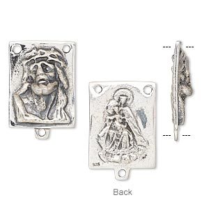 Connectors Sterling Silver Silver Colored
