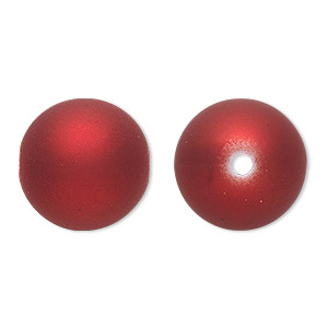 Beads Rubberized Acrylic Reds