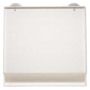 Tray, Katchit™, Plastic, Off-white, 16-1/2 X 16 Inches Suction Cups. Sold Individually KATCHIT TRAY