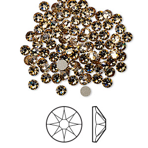 Flat-Back Swarovski Light Colorado Topaz