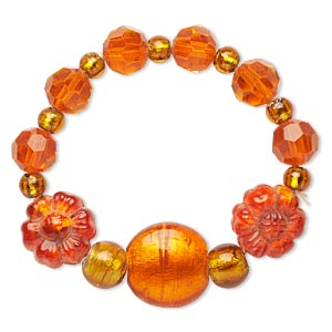 Stretch Bracelets Oranges / Peaches Everyday Jewelry