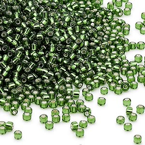 Seed Beads Glass Greens