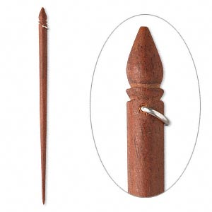 Hairsticks Rosewood Silver Colored