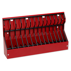 Plier Rack, Plyworx PliersRack II, Plastic / Rubber / Powder-coated Steel, Red / Black / White, 12 X 7 X 2-1/2 Inches. Sold Individually