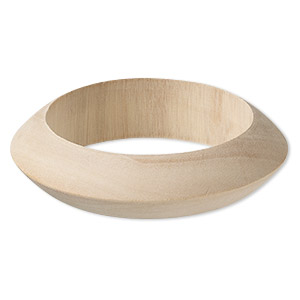 Bracelet, Bangle, Wood (natural), 22mm Wide Wide Point, 8-1/2 Inches. Sold Individually