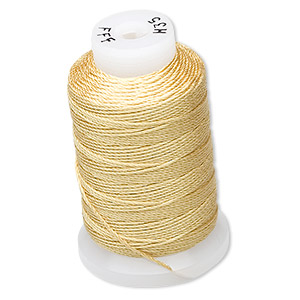 Thread Silk Gold Colored
