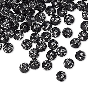 Beads Acrylic Blacks