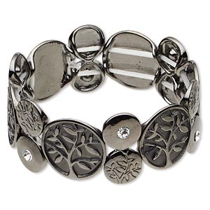 Stretch Bracelets Gunmetal Greys
