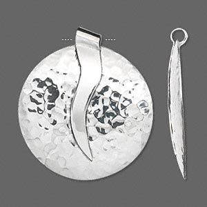 Focal, Hill Tribes, Fine Silver, 44mm Hammered Flat Round. Sold Individually