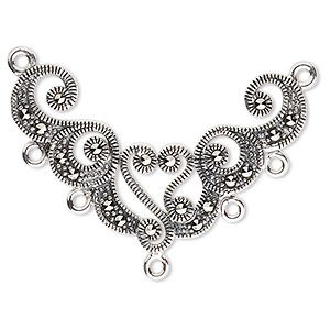 Drops and Pendants Marcasite Silver Colored