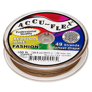 Beading Wire Stainless Steel Copper Colored