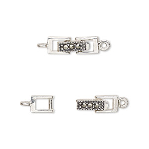 Snap Lock Sterling Silver Silver Colored