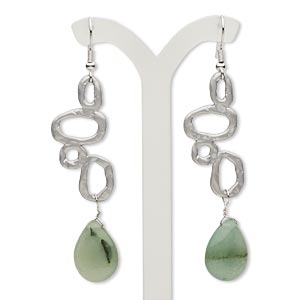 Fishhook Earrings Greens Everyday Jewelry