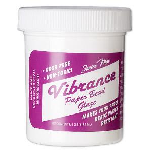 Glaze, Janice Mae Vibrance Paper Bead Glaze. Sold Per 4-ounce Bottle VIBRANCE