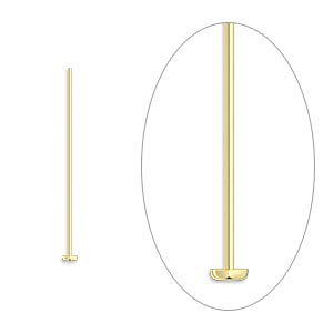 Headpin, 14Kt Gold-filled, 1 Inch, 24 Gauge. Sold Per Pkg 10