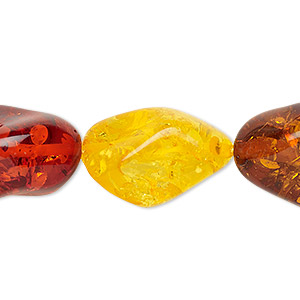 Beads Amber Multi-colored