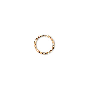 Open Jump Rings Gold Plated/Finished Gold Colored