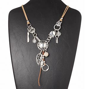 Y Necklaces Silver Colored Everyday Jewelry