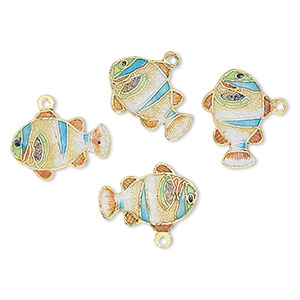 Charms Cloisonné Multi-colored