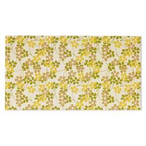 Paper, Cotton Fiber, Multicolored, 11x6-inch Rectangle Floral Design. Sold Per Pkg 2