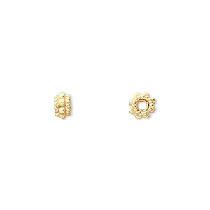 Spacer Beads Sterling Silver Gold Colored
