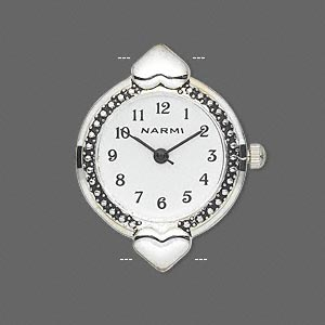 Watch Faces Silver Plated/Finished Silver Colored