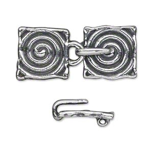 Hook and Eye Silver Plated/Finished Silver Colored