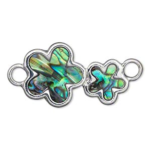 Links Paua Shell Silver Colored