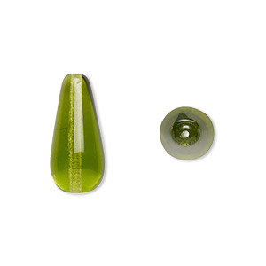 Czech Pressed Shapes Pressed Glass Greens