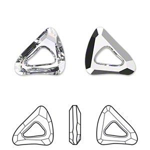 Organic Cosmic Triangle 20mm Swarovski Crystal Bronze Shade