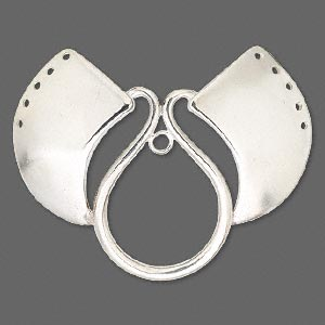 Focal, Hill Tribes, Fine Silver, 63x50mm Fancy Open Design, 5-holes Side. Sold Individually