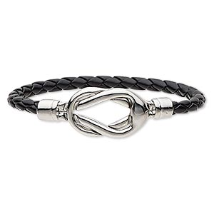 Other Bracelet Styles Leatherette Silver Colored