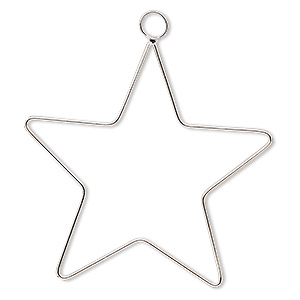 Ornament frame, steel wire, 4-inch star. Sold per pkg of 2. - Fire ...