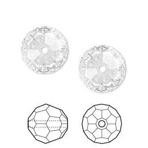 Bead, Swarovski® Crystals, Crystal Passions®, Crystal Clear, 14mm Faceted Round (5000). Sold Per Pkg 2 5000
