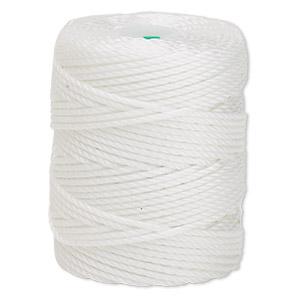 Thread, C-Lon®, Nylon, White, 0.9mm Diameter. Sold Per 39-yard Spool CLC.400-WH