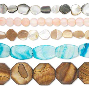 Beads Other Shell Mixed Colors