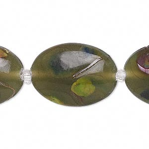 Beads Lampwork Glass Greens