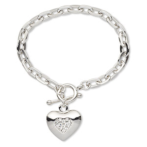 Other Bracelet Styles Imitation rhodium-plated Silver Colored