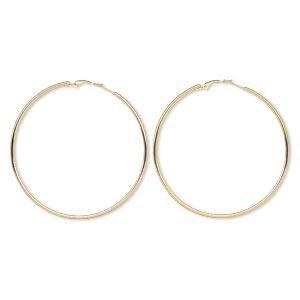 Hoop Earrings Gold Plated/Finished Gold Colored