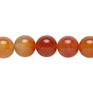 Bead, Red Agate (dyed / Heated), 10mm Round, B Grade, Mohs Hardness 6-1/2 7. Sold Per 16-inch Strand 5943GS
