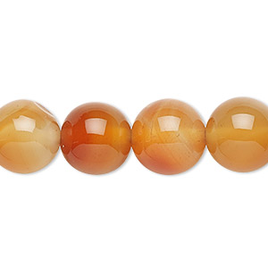 Bead, Red Agate (dyed / Heated), 12mm Round, B Grade, Mohs Hardness 6-1/2 7. Sold Per 16-inch Strand 5944GS
