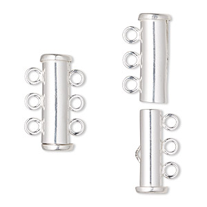 Slide Lock Sterling Silver Silver Colored