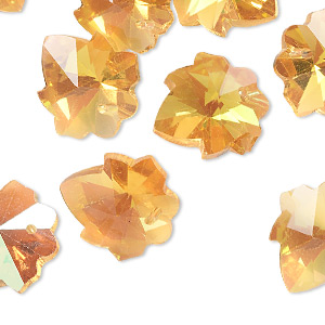 Drops Glass Gold Colored
