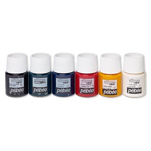 Glass Paint, Pebeo, Assorted Colors. Sold Per Pkg (6) 20-milliliter Bottles 01/04/11/13/19/20