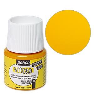 Glass Paint, Pebeo, Semitransparent Sun Yellow. Sold Per Pkg 45-milliliter Bottle 01