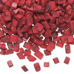 Undrilled Mini Chips Coral Reds