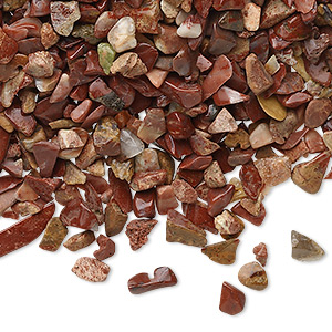 Embellishment, Red Jasper (natural), Mini Hand-cut Undrilled Chip, Mohs Hardness 6-1/2 7. Sold Per 50-gram Pkg, Approximately 850-1,100 Pieces