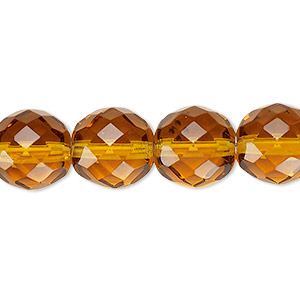 Czech Fire-Polished Glass Yellows