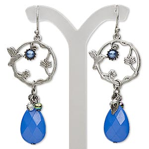 Fishhook Earrings Blues Everyday Jewelry